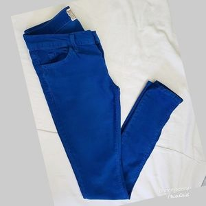 Current/Elliott Skinny Electric Blue Trouser Jeans
